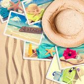 Cartões postais na areia — Foto Stock