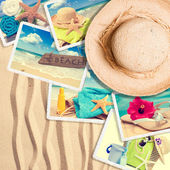 Postcards In The Sand — Stock Photo