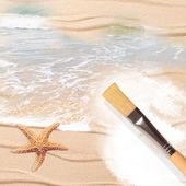 Painting The Beach — Stock Photo