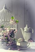Vintage ikindi çayı — Stok fotoğraf