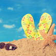 Sunglasses In Sand — Stock Photo #26010141