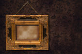 Gilt Frame On Wall — Stock Photo
