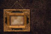 Gilt Frame On Wall — Stock Photo