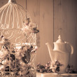 Vintage Birdcage — Stock Photo