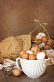 Bowl Of Eggs — Stock Photo