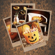 Halloween Polaroids — Stock Photo