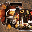 Stock Photo: Vintage Autumn Postcards