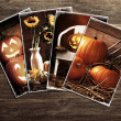 Stock Photo: Halloween Postcards