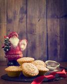 Festive Mince Pies — Stock Photo