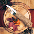 Autumn Table Setting — Zdjęcie stockowe