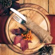 Autumn Table Setting — Stockfoto