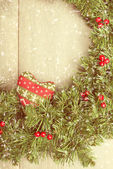 Vintage Christmas Garland — Stock Photo