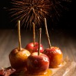Toffee Apples Group — Stock Photo