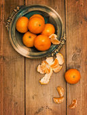 Clementines On Wooden Board — Stock Photo