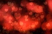 Cuori rossi astratto — Foto Stock