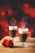 Steaming Hot Chocolates — Stock Photo