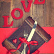 Valentine's Cutlery — Stock Photo