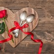 Stock Photo: Valentine Table Setting