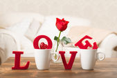 Love With Teacups — Stock Photo