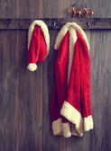 Santa's Hat & Coat — Stock Photo