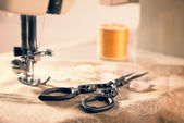 Máquina de costura vintage — Fotografia Stock