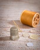 Threaded Needle — Stock Photo