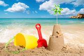 пляж сцены — Стоковое фото