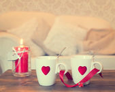 Heart Teacups — Stock Photo
