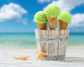 Mint Ice Creams — Stock Photo