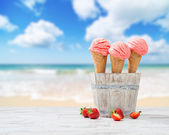 Strawberry Ice Creams — Stock Photo