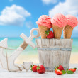 Strawberry Fruit Ice Cream — Stock Photo #47926331