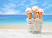 Raspberry Ripple Icecream — Stock Photo