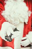 Santa Holding Key — Stock Photo