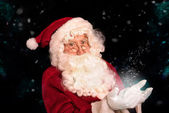 Santa At Christmas — Stockfoto