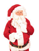 Santa Saying Shush — Stock Photo