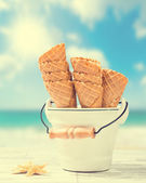 Empty Ice Cream Cones — Stock Photo