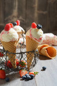 Fruity Ice Creams — Stock Photo