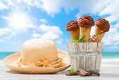 Ice Creams At The Beach — Stock Photo