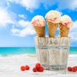 Raspberry Ripple Icecreams — Stock Photo #50647135