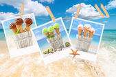 Icecream Polaroids — Stock Photo