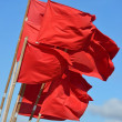 Stock Photo: Red flags