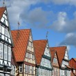 Stock Photo: Half-timbered houses