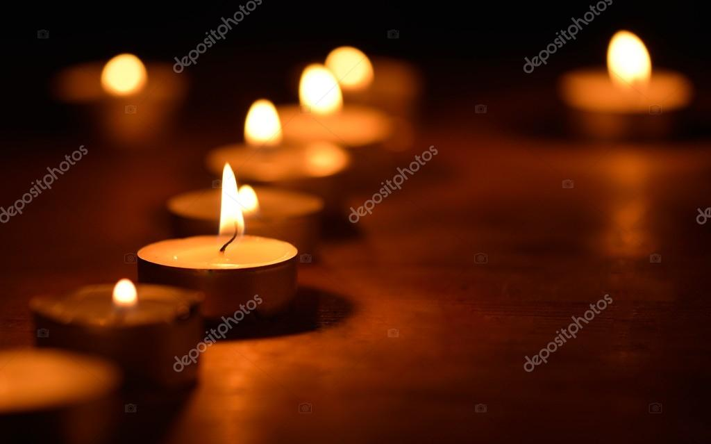 Warm and decorative candlelight  Foto Stock #14801575