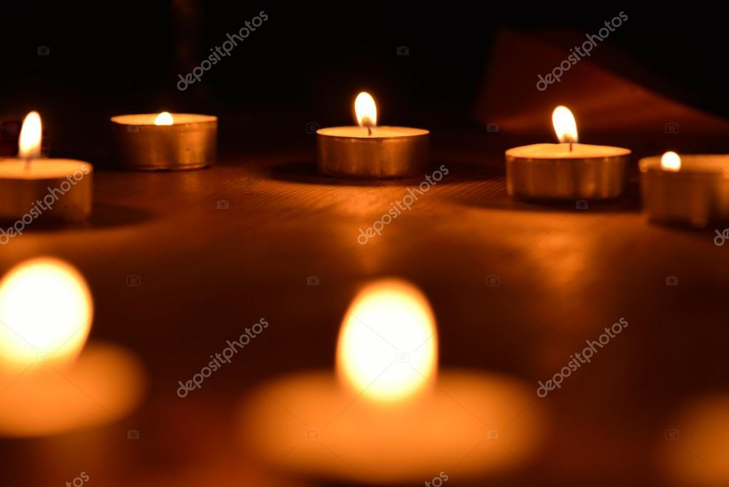 Warm and decorative candlelight  Stock Photo #14801593