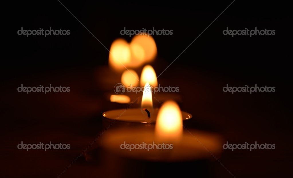 Warm and decorative candlelight — Stock Photo #14801607