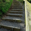 Stock Photo: Steps on footpath
