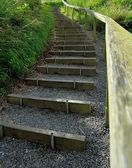 Steps on a footpath — Stock Photo