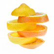 Lemon and orange slices — Stock Photo