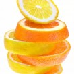 Lemon and orange slices — Stock Photo