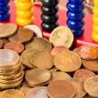 Euros and Abacus — Stock Photo